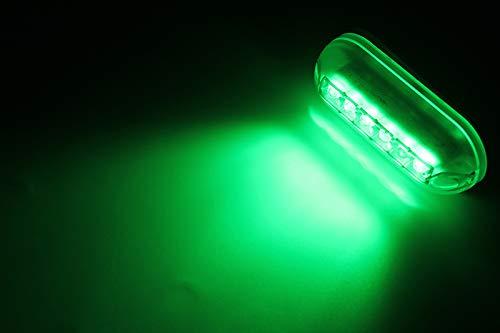 Luci per barche, ZONCENG 12V 6 LED Marine Light Night luci subacquee diurne per imbarcazioni marine Accessori impermeabili (verde)