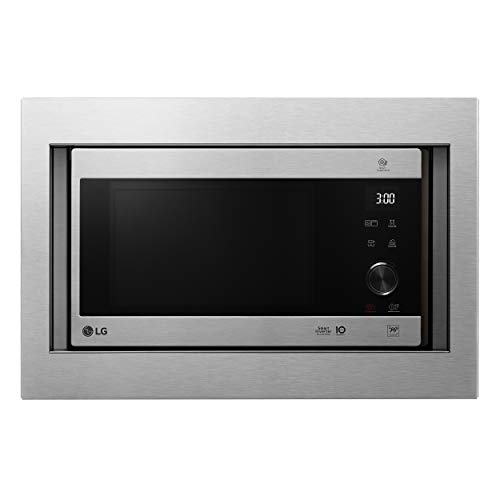 LG MH6565CPST - Microondas grill con tecnología Smart Inverter, kit de encastre,...