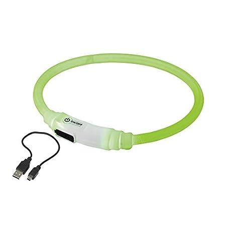 Nobby 77015 LED Lichtband Visible Katze Durchmesser 7 mm; 35 cm, M, grün
