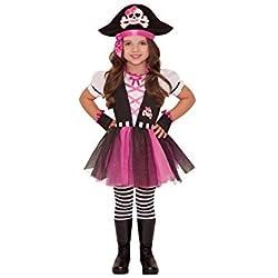 Disfraz de pirata para niñas, disponible varias tallas.