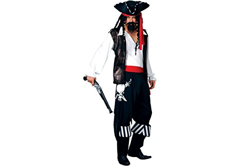 HIGH SEAS BUCCANEER PIRATE ADULT COSTUME FANCY DRESS UP PARTY