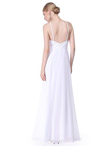 Ever Pretty Damen Sexy Lang Neckholder Rückenfrei Abendkleider 08982 Weiß