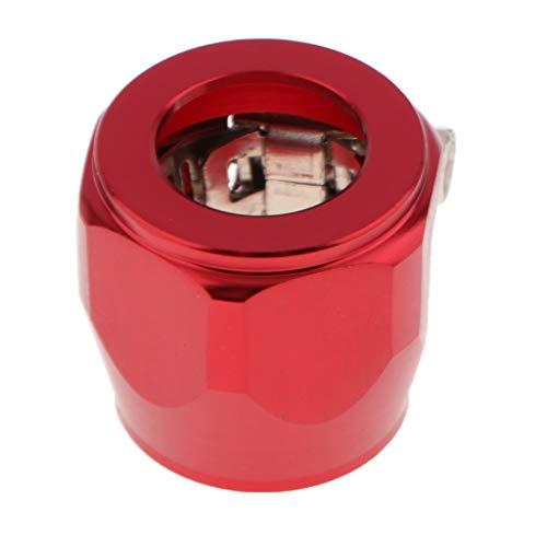 KESOTO AN4 Kfz LKW Autos Rohrclip-Klammer Für Kraftstoff/Wasser/Öl/Luftleitungen - rot -