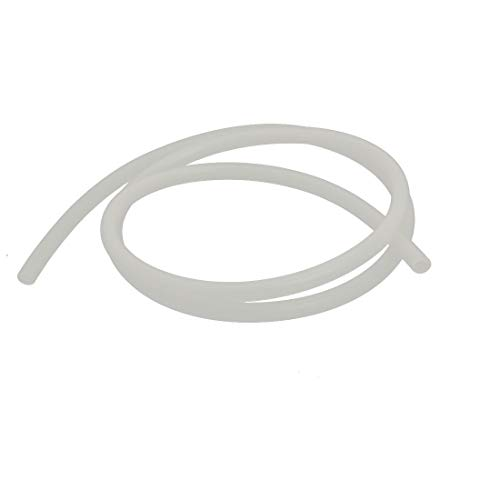 ZCHXD 4mm x 7mm Heat Resistant Soft Silicone Tube Hose Pipe 1M Long Milky White -
