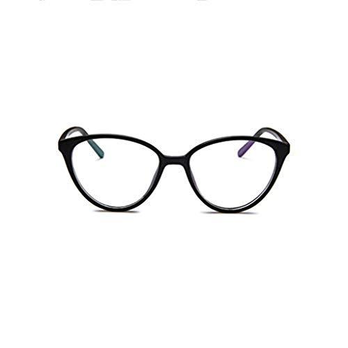 WooCo Retro Brille für Damen und Herren, Ausverkauf Fashion Frame Flat Mirror Brillengestell Acht Farbe Eyewear(Schwarz,One size)