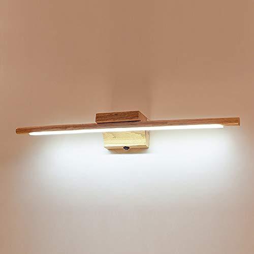 Wandleuchte Design LED/Moderne zeitgenössische Badezimmerbeleuchtung Schlafzimmer/Badezimmer Holz/Bambus Wandleuchte IP20 85-265V 10 W, Warmweiß -