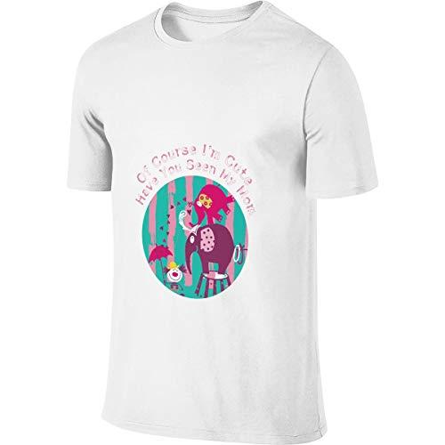 Clásico, por Supuesto, Soy Lindo Elefante Camiseta de Manga Corta para Hombres ¿Eres tú mi Madre Camisetas para Hombre Cuando pienso en ti Hombres Ropa Blanca 5XL