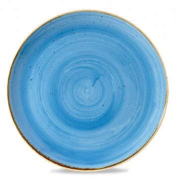 Churchill Stonecast -Coupe Plate Teller- Durchmesser: Ø32,4cm, Farbe wählbar (Cornflower Blue) Blue Plate