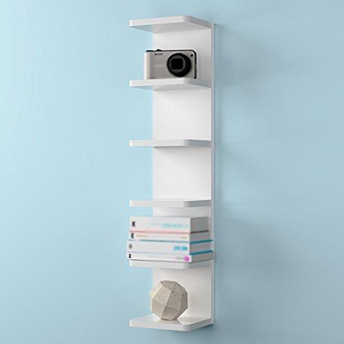 Bücherregale WSSF- 6-Tiers Wandbehang Kreative Ecke Schindel Indoor Wohnzimmer TV Hintergrund Speichereinheit Display-Ständer, Weiß, 20 * 15 * 90 cm (6-tier-bücherregal)