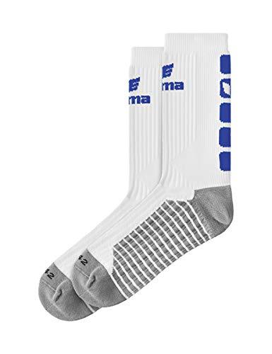 Erima Erwachsene Classic 5-C Socken, weiß/New royal, 39-42