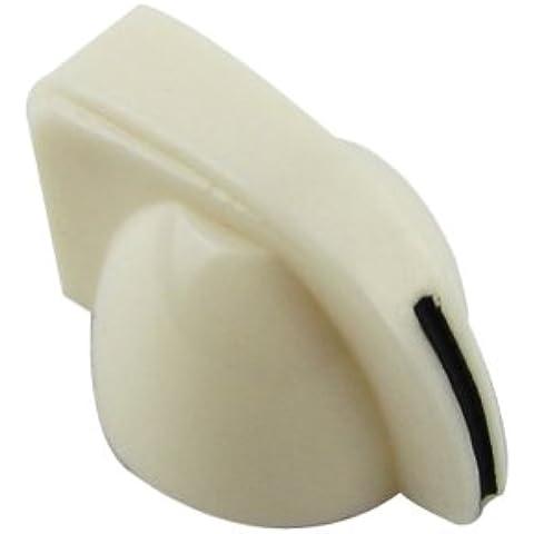 IKN pollo stile testa manopole di plastica per chitarra Amplificatore per basso Amplificatore, bianco (pacchetto di 24 pezzi)