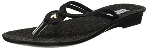 FLITE Women's Black Slippers - 8 UK/India (42 EU)(PUL034L)