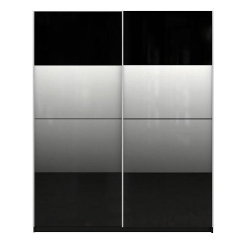 Chelsea 2-Porta scorrevole a specchio per armadio, in parte