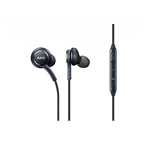 MLTrade Auriculares Original Samsung AKG Harman Kardon EO-IG955 para Galaxy S9, A8, A9, Negro, Bulk