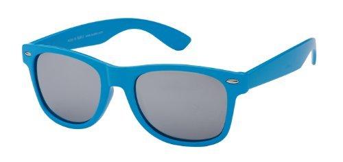 Sonnenbrille Nerdbrille retro Artikel 4026-19, blau / verspiegelt