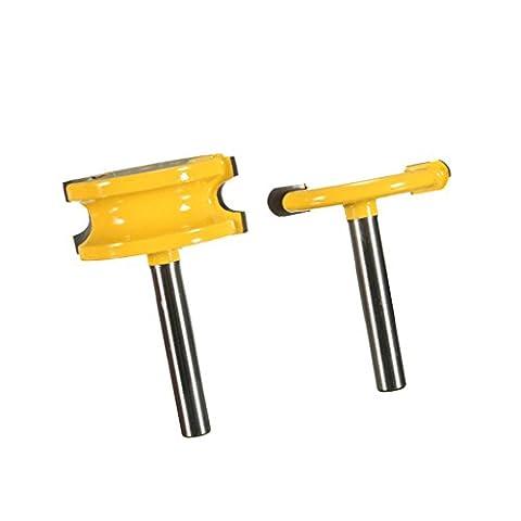 Homyl DIY Router Bit Set Flute & Bead / Stile & Rail / Bullnose Radius / Crown Molding / Chair Rail Molding / Cabinet Drawer Front / Edging / Bowl / Profile / Long Flush Trim / Entry Interior Door Router Bit 1/2