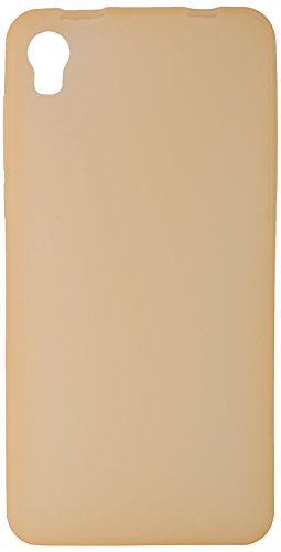 GoRogue Frosted Glowing Ultra Slim Soft Flexible TPU Back Case Cover For Micromax Canvas Fire 2 A104 (Gold)  available at amazon for Rs.149