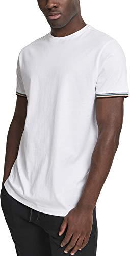 Urban Classics Herren Rib Ringer Tee T-Shirt, Mehrfarbig (Wht/Multicolor 00563), Small (Herstellergröße: S) -