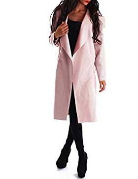 Damen Mantel Trenchcoat mit Gürtel lang