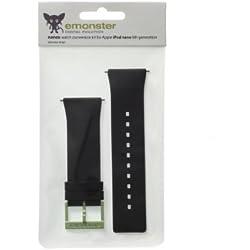 nanox - Apple iPod nano silicone strap (Black strap / Green buckle)