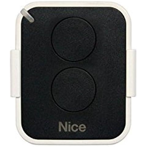 NICE ON2E - Mando a distancia con 2 botones para puerta automática