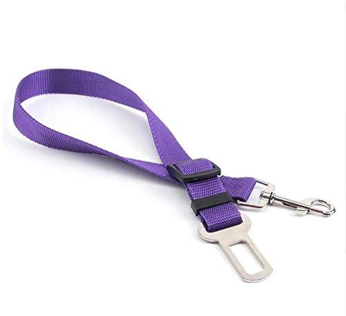 EROSPA® Universal Auto KFZ Hunde-Sicherheitsgurt - Anschnallgurt - Verstellbar (Lila)