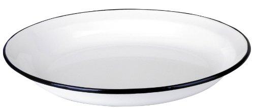 Ibili 912932 - piatto per la pasta, in acciaio smaltato, colore: bianco