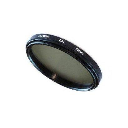 SODIAL(Wz.) 58mm Circular Polfilter (CPL) Zirkular Polfilter Filter fuer Kodak, Nikon, Canon und jede Kamera mit einem 58mm Filtergewinde