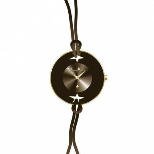 Thierry Mugler 4705103 - Reloj analógico de cuarzo para mujer con correa de piel, color marrón