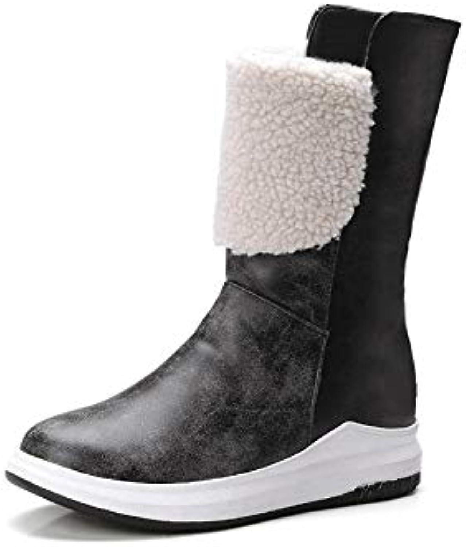 YSFU bottes Bottes De Neige Neige Neige pour Femmes Confortable Loisir Chaud Chaussures Dames Bottes Baskets Plat Anti Slip...B07K5PYLLZParent 52b58a