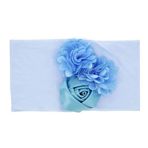 Bébé Fille Fleur Cheveux Accessoires Bande,Mounter 2019 Serre-Tête Elastique d'un Style du Nœud pour Les Petites Filles - Accessoires Mignons pour Bébés Ou Petites Filles (Bleu, 3-18 Mois)