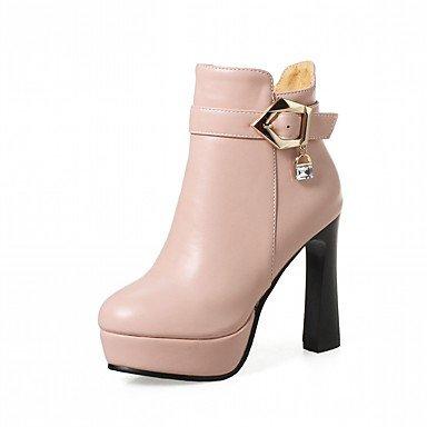Rtry Femmes Chaussures Pu Similicuir Automne Hiver Confort Nouveauté Mode Bottes Bottes Chunky Talon Bout Rond Bottines / Strass Bottines Us8 / Eu39 / Uk6 / Cn39