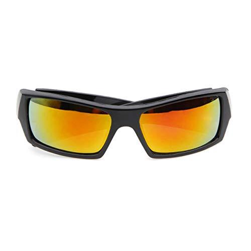 Prima05Sally Sonnenbrille mit quadratischem Rahmen Super Dark Polarized Wrap Around Sportbrille Helles Schwarz-Lila-Quecksilber C5 Outdoor