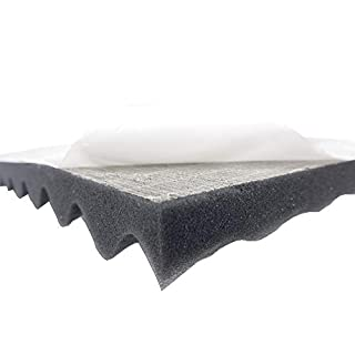 Akustikpur Acoustic Foam, self-Adhesive, Sound Insulation mats for Effective Acoustic Insulation, Approx. 100 cm x 49 cm x 3 cm