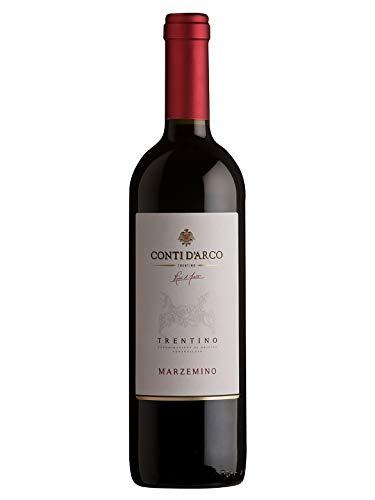 """MARZEMINO Trentino DOC - Conti d""""Arco - Vino rosso fermo 2018 - Bottiglia 750 ml"""