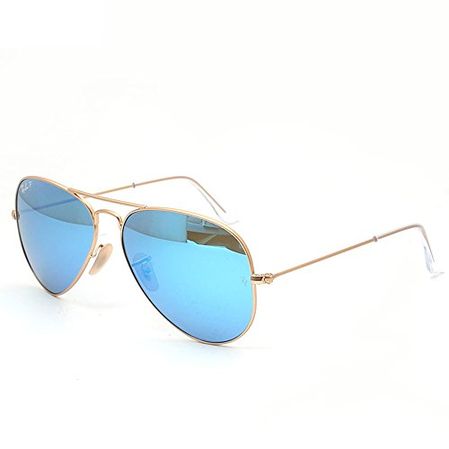 Ray-Ban RB3025 Aviator Large Metal, Occhiali da Sole, Oro (Gold 112/17), 58 mm