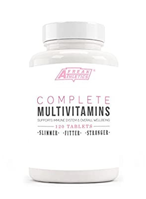 Complete Multivitamin - 120 Multivitamin and mineral tablets - Multivitains To Help Support Immune System and Overall Wellbeing - High Quality Vitamins Guaranteed - UK Made by Freak Athletics