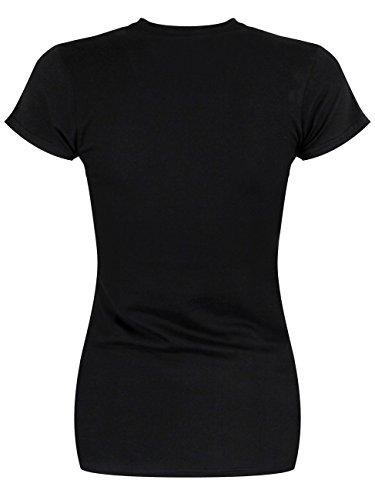 Evanescence Space Map T-shirt Femme noir Noir