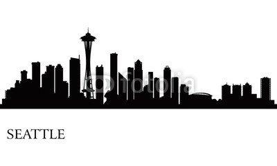 Poster Skyline Von Seattle (Poster-Bild 130 x 80 cm: