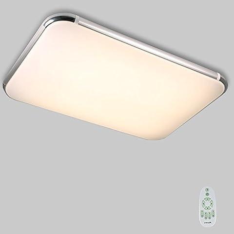 Natsen® 80W Moderne LED Deckenleuchte mit Fernbedienung voll dimmbar geeignet für Flur, Wohnzimmer, Bad, Küche etc. Lampe (920mm x 650mm)