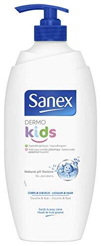 Sanex - Gel de ducha Dermo Kids 750 ml - Lote de 4