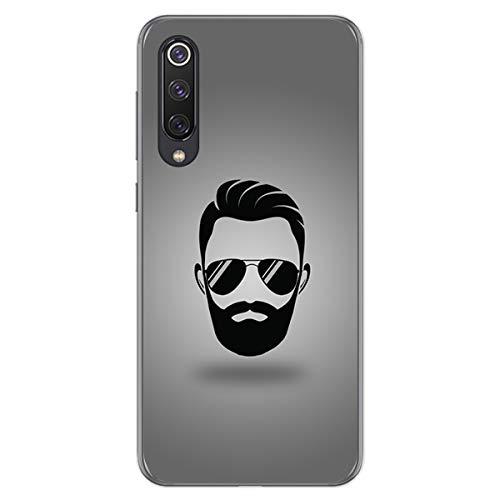 Tumundosmartphone Funda Gel TPU para Xiaomi Mi 9 SE diseño Barba Dibujos