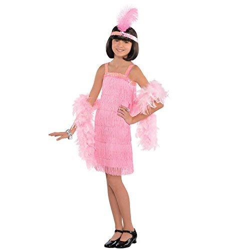 Generique - Charleston Kostüm für Kinder rosa 116/128 (6-8 ()