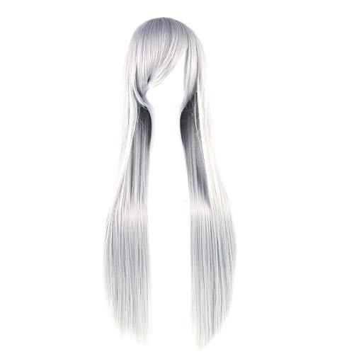 Chakil 80cm Glattes Haar Cosplay Perücke mit Perückenkappe Anime Cosplay Wigs + Perücke Cap (Perücke Mit Halloween Der)