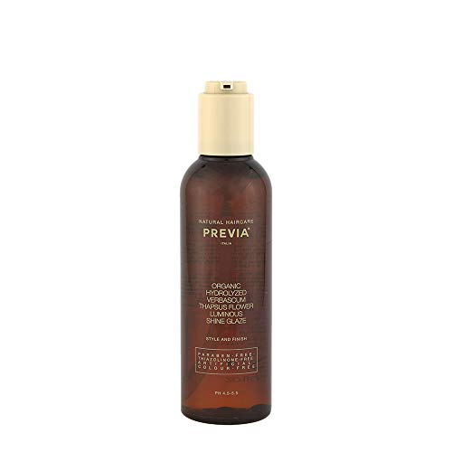 Previa Finish Organic Hydrolized Verbascum Thapsus Flower Luminous Shine Glaze 200ml - fluide de modelage