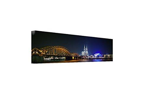 Bilderfabrik – Skyline von Köln- auf Leinwand und Holzkeilrahmen bespannt. Beste Qualität, handgefertigt in Deutschland.