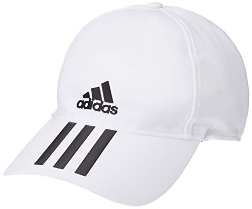 adidas C40 6P 3S CLMLT Hat, White/Black, OSFM Adidas Stretch Hat