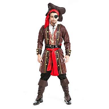 HAOBAO Cosplay Kostüme/Party Kostüme Seeräuber Fest/Feiertage Halloween Kostüme Fuchsie einfarbig Mantel/Top/Hosen/Mehre Accessoires (Box Halloween-kostüm Ideen)