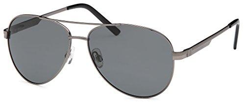 Hochwertige Unisex Piloten-Sonnenbrille mit polarisierten Gläsern UV400 Filter und Federscharnier -...