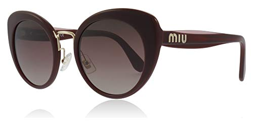 Miu Miu Sonnenbrillen Logo SMU 06T Burgundy/Purple Brown Shaded Damenbrillen